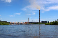 The dam and power station GRES-2 Royalty Free Stock Photos