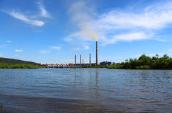 Dam power station Stock Images