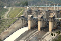 Dam. It produces electicity in himachal pradesh royalty free stock photo