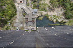 Dam Pumping Station From Above Stock Photography