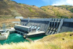 Dam ,Queenstown, NewZealand Royalty Free Stock Images