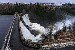 Dam releasing water during rainy days