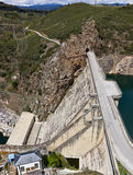 Dam reservoir. Of cubillos del sil Royalty Free Stock Photo