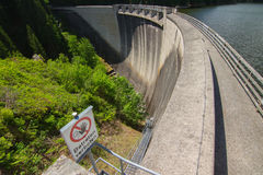 Dam reservoir. In the Alps, Austria Royalty Free Stock Images
