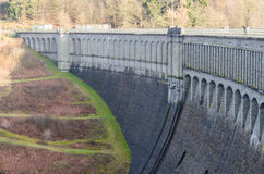 Dam reservoir, concrete dam, Royalty Free Stock Photography