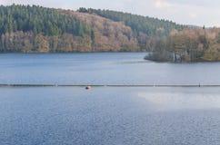 Dam reservoir, concrete dam, Stock Photo