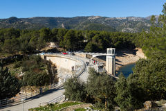 Dam and reservoir at Guadalentin river.  Andalusia Stock Images