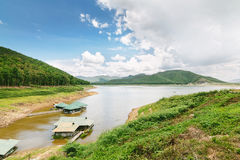 Dam and reservoir in Thailand Royalty Free Stock Photo