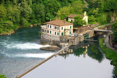Dam on the river Royalty Free Stock Images