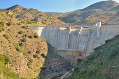 Dam on the river Campanillas Stock Photography