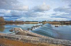 Dam on the river Ebro Royalty Free Stock Photography
