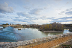 Dam on the river Ebro Stock Images