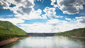 Dam on the River stock video footage