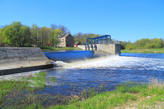 Dam on the river Stock Image