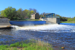 Dam on the river Royalty Free Stock Photos