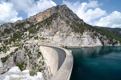 Dam on the river Manavgat Royalty Free Stock Images