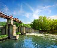 Dam on the river Royalty Free Stock Photography
