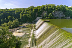Dam on the river the Teterev. Ukraine Royalty Free Stock Photos