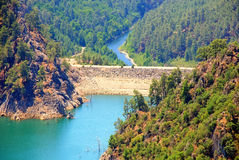 Dam in a river(Turkey) Stock Image