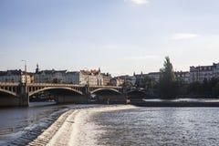 River Vltava in Prague royalty free stock photo