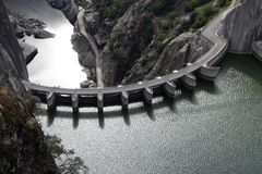 Dam seeing from above royalty free stock photography