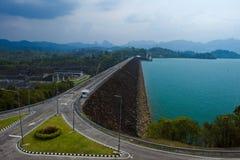 Dam road Royalty Free Stock Photo
