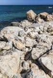Dam on the romanian Black Sea coast Royalty Free Stock Photography