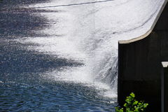 Dam run-off Stock Image