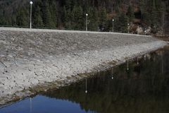 Dam's wall Royalty Free Stock Photography