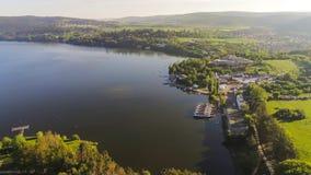 Dam See in Brno von der oben genannten, Tschechischen Republik stockfotos