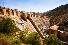 Dam at Segre river Stock Photography