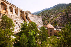 Dam at Segre river.  Lleida Stock Photos
