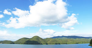 Dam sky mountain nature. Royalty Free Stock Photography
