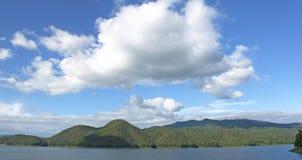 Dam sky mountain nature. Royalty Free Stock Photos