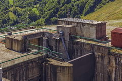 Dam sluice gate Royalty Free Stock Photo