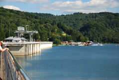 Dam in Solina. Solina Lake Dam in Solina (Bieszczady Mountains, Poland Royalty Free Stock Image