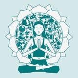 Dam som gör yoga Royaltyfri Foto