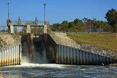Dam Spillway. The spillway at Inglis Lock dam near Inglis, Florida Royalty Free Stock Photos