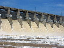 Dam spillway runnoff Stock Photo