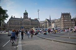 Dam Square in Amsterdam Stock Images