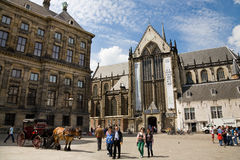 Dam Square, Amsterdam Royalty Free Stock Photo