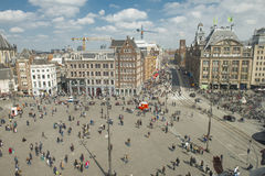 Dam Square in Amsterdam Royalty Free Stock Images