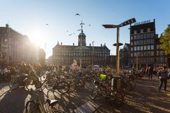 The Dam Square, Amsterdam Stock Photography