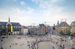 Dam Square in Amsterdam Royalty Free Stock Photography