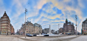 Dam square Amsterdam winter Stock Photo