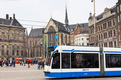Dam square, historical center of the city in Amsterdam, Holland Stock Photo