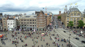 Dam Square view, Amsterdam Royalty Free Stock Photos