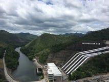 Dam. Srinagarind dam Kanchanaburi Thailand Stock Photos