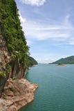 On dam srinakarin in thailand. On dam srinakarin in kanchanaburi, thailand Royalty Free Stock Photography