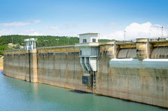 Dam in summer Royalty Free Stock Photos